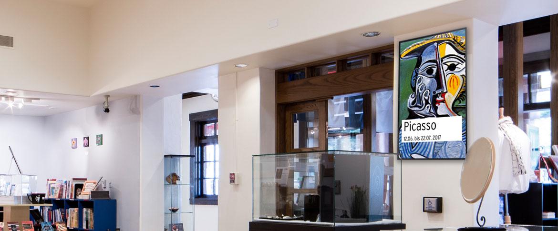 Digital Signage Museumsshop